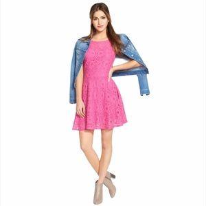 BB Dakota Renley Lace Fit & Flare Dress—4
